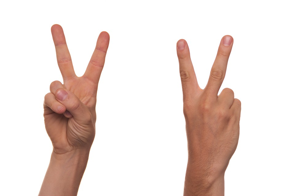 Researchers can pin point terrorists from their V signs