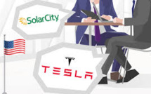 Tesla, SolarCity Shares Drop as $2.6 billion Offer to Buy Sister Firm made by Tesla